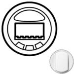 Лицевая панель датчика движения с кнопкой вкл/выкл белая Celiane