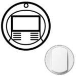 Лицевая панель датчика присутствия комбинированного белая Celiane