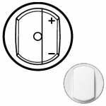 Лицевая панель светорегулятора с нейтралью или ИК-управляемого белая Celiane