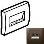 Лицевая панель Rj45 UTP темная бронза Galea Life