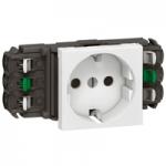 Розетка 2К+З для кабель-каналов DLP, стандартная, белая.