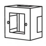Коробка SM 1 пост для розетки 60мм