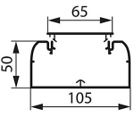 Кабель-канал 105х50 с крышкой, белый.