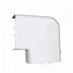 Угол плоский для кабель-каналов 80х35, 80х50, белый.
