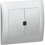 Выключатель двойной с ИК приемником 2х1000Вт Galea Life Legrand.